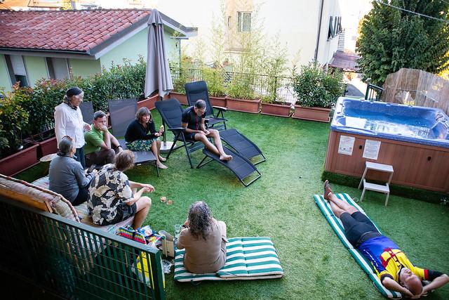 Relaxing in Lucca
