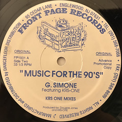 G. SIMONE:MUSIC FOR THE 90'S(LABEL SIDE-A)