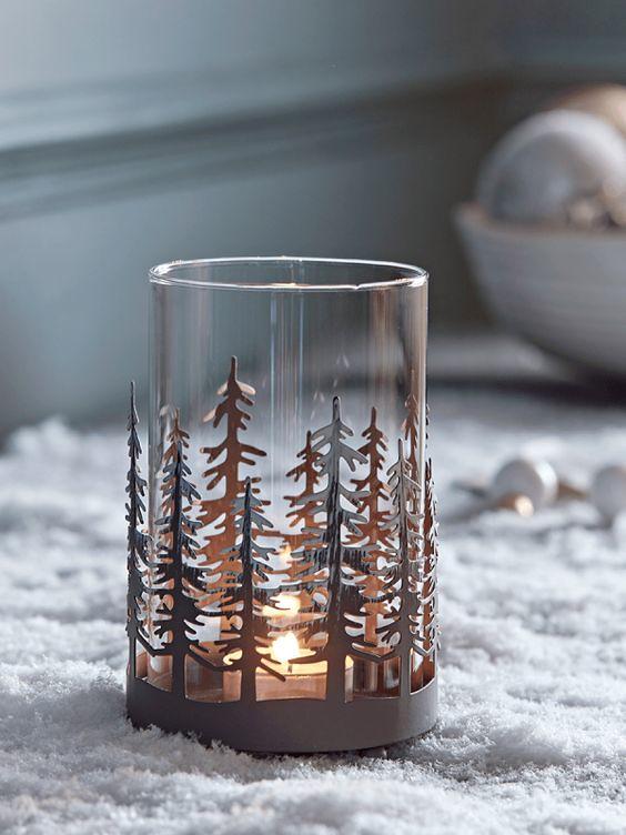 Cox & Cox Pine Tree Tealight Holder